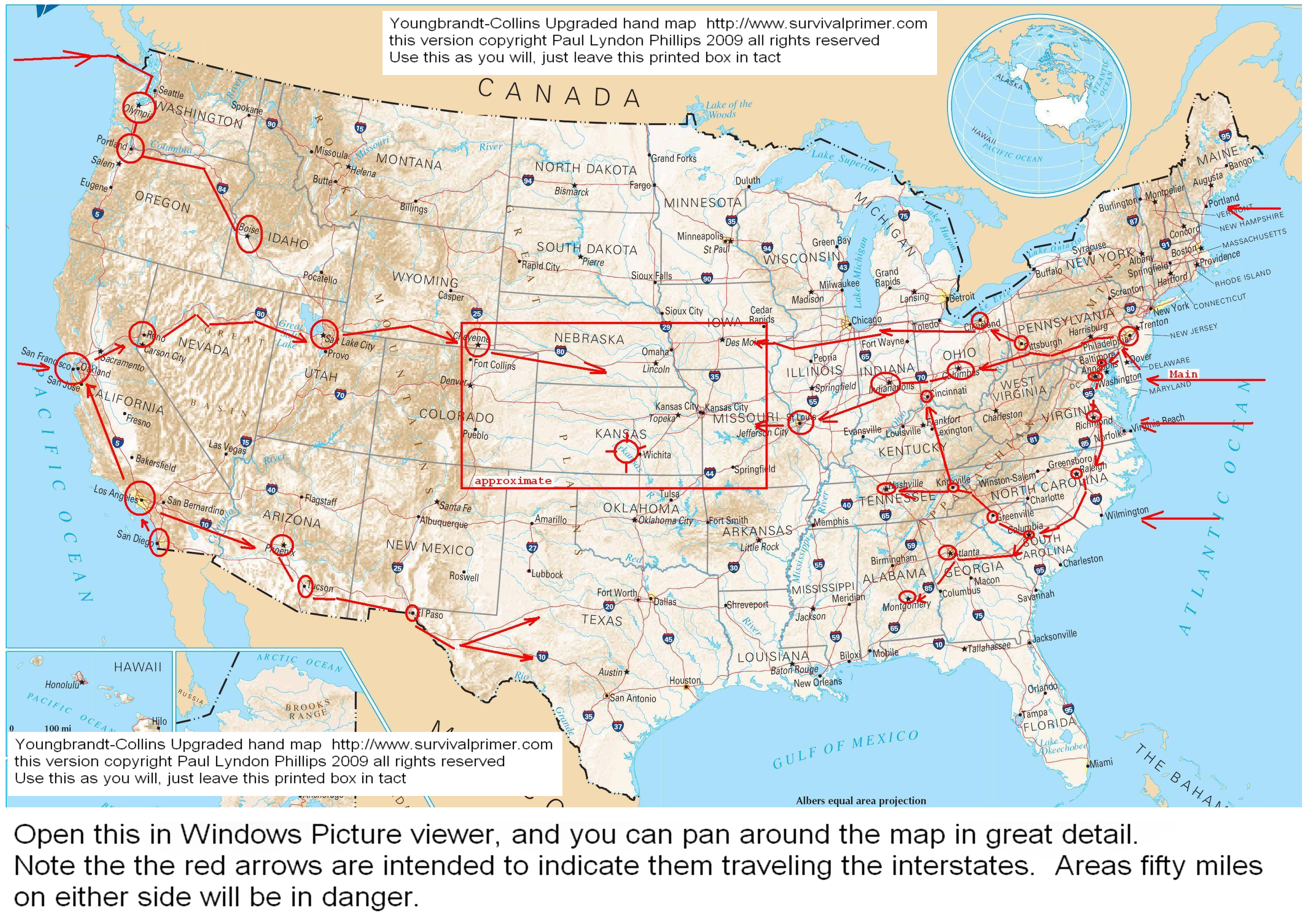 Confirmation Dreams Of War Coming To American Soil - Us map with freeways